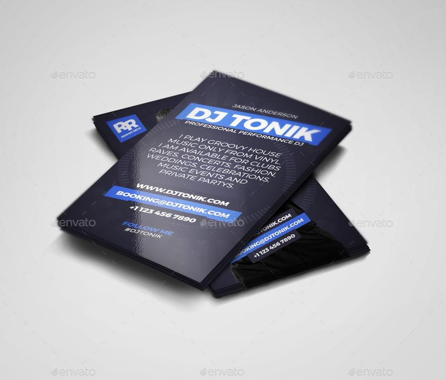 ProDJ - DJ / Producer Business Card PSD Template by vinyljunkie ...