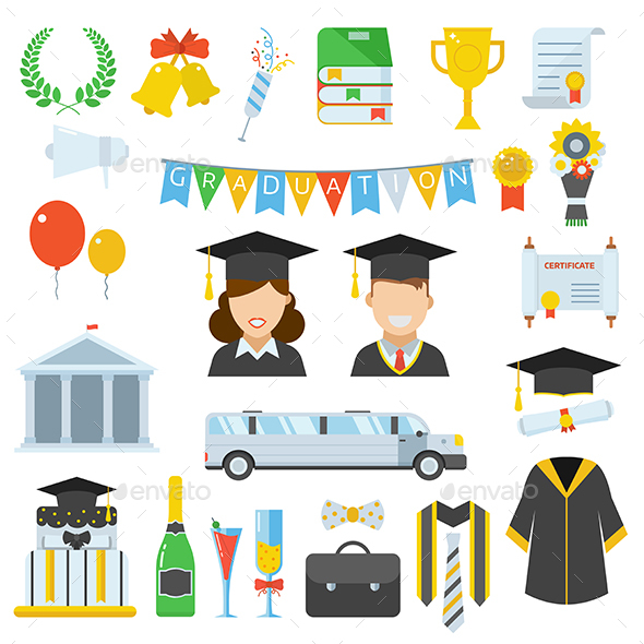 Graduation Day Vector Elements - Conceptual Vectors