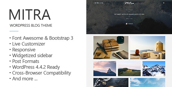 Mitra – A Clean & Responsive Blog Theme