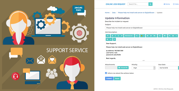 Job Request - Online Support Application - CodeCanyon Item for Sale