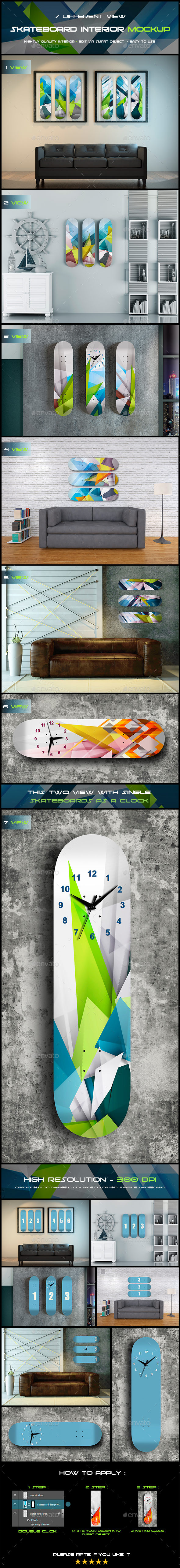 Skateboard Interior - Product Mock-Ups Graphics