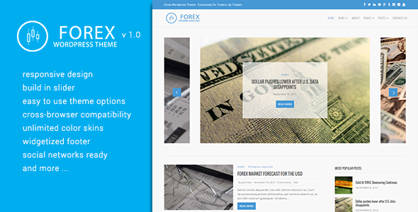 Forex WordPress Theme – Exclusively for Traders