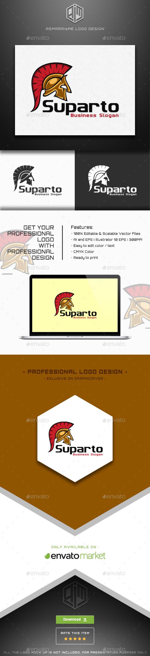 Suparto - Spartan Warior Logo - Symbols Logo Templates