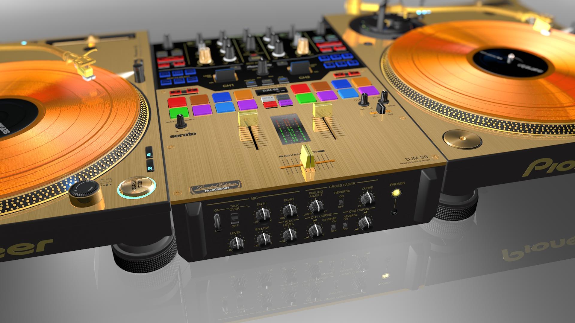 Realistic Gold Prodj Turntable Pioneer Plx1000 Amp Mixer Djm