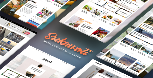Sukawati - MultiConcept WordPress Blog Theme