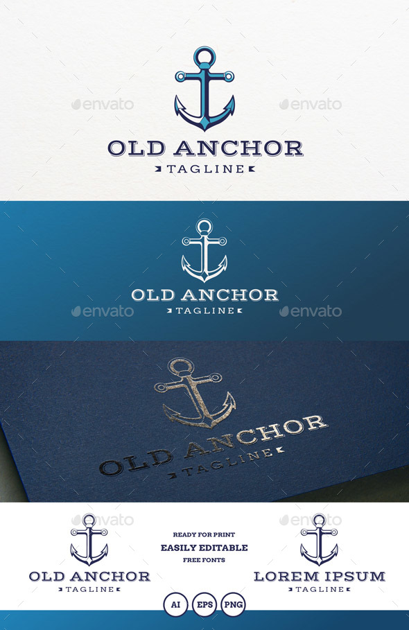 Old Anchor Logo - Objects Logo Templates