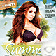 Flyer Summer Beach Weekend Party - GraphicRiver Item for Sale