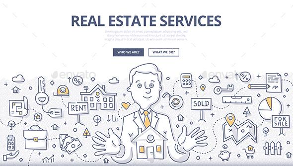 Real Estate Services Doodle Concept - Concepts Business