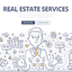 Real Estate Services Doodle Concept - GraphicRiver Item for Sale