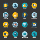 16 Flat SEO Icons - GraphicRiver Item for Sale