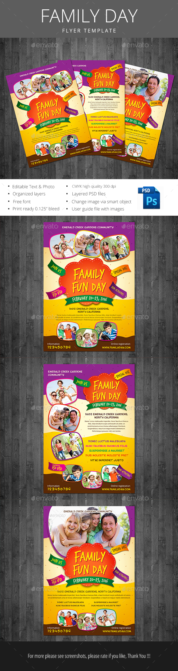 Family Day - Events Flyers