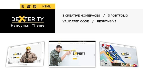 Dexterity - Responsive HTML template for Handyman, Construction, Architects and Plumbers, etc - Business Corporate