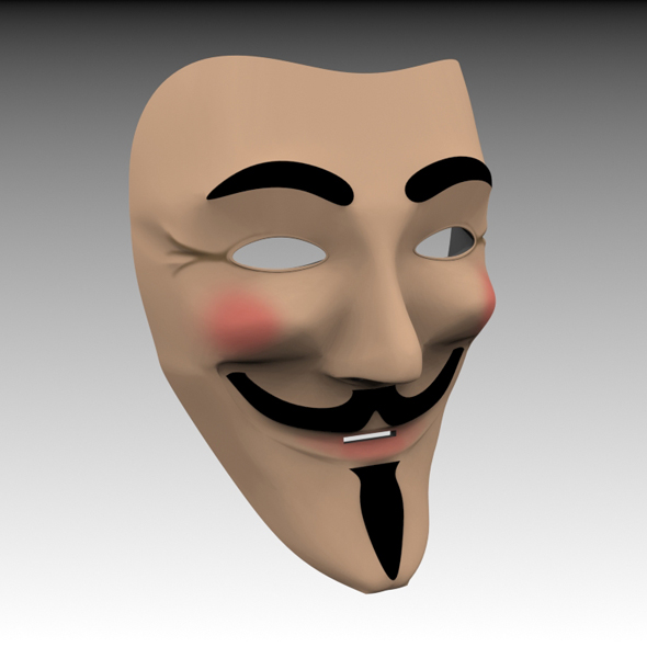 Guy Fawkes/Anonymous Mask - 3DOcean Item for Sale