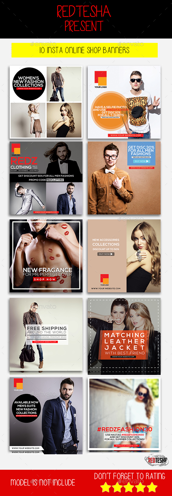 Instagram Fashion Banner #4 - Banners & Ads Web Elements