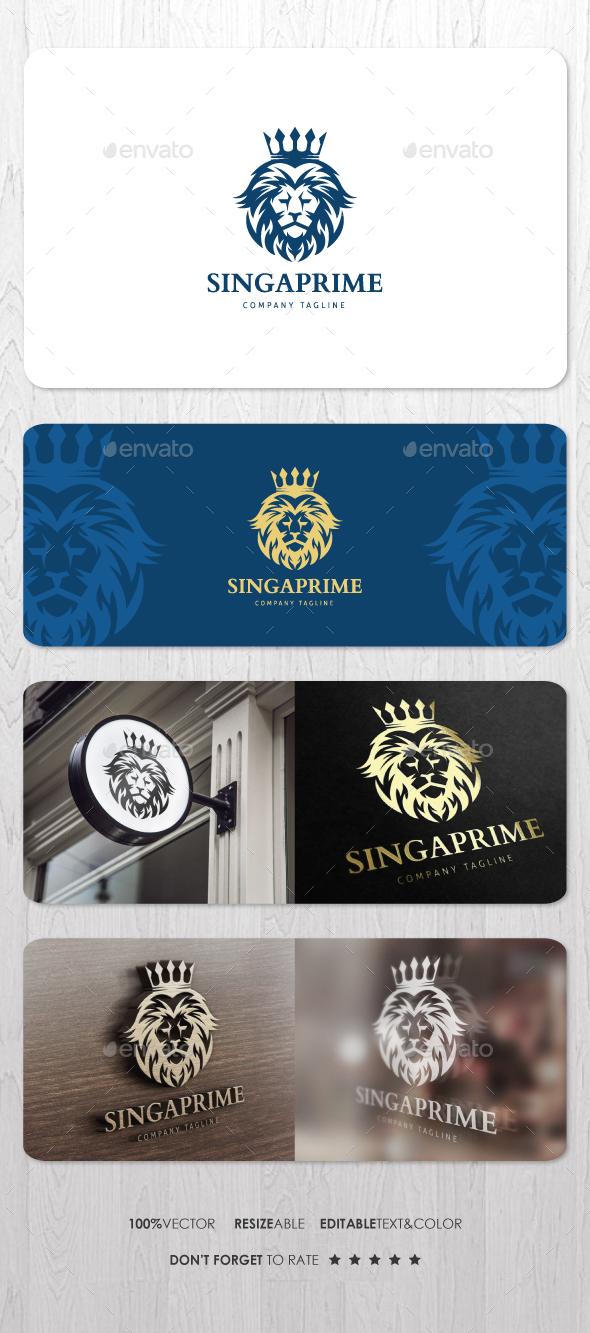Singa Prime Logo - Animals Logo Templates