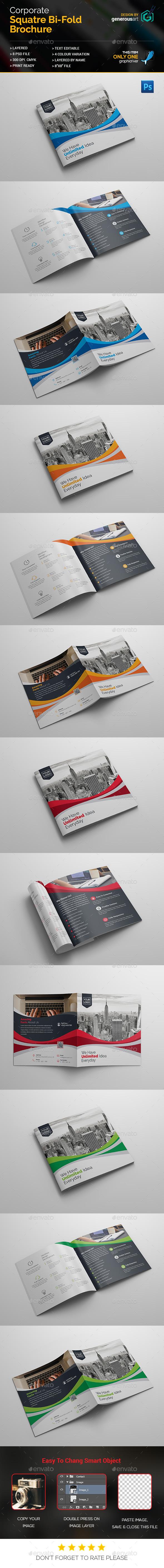 Square Bi-Fold Brochure Design - Corporate Brochures