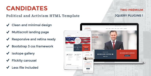 Candidates - Political and Activism HTML5 Template - Political Nonprofit