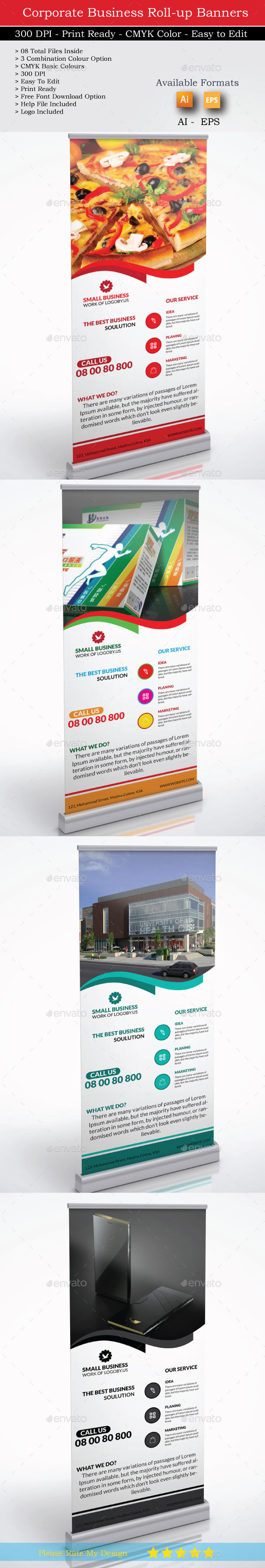 Small Business Roll up & Logo - Signage Print Templates