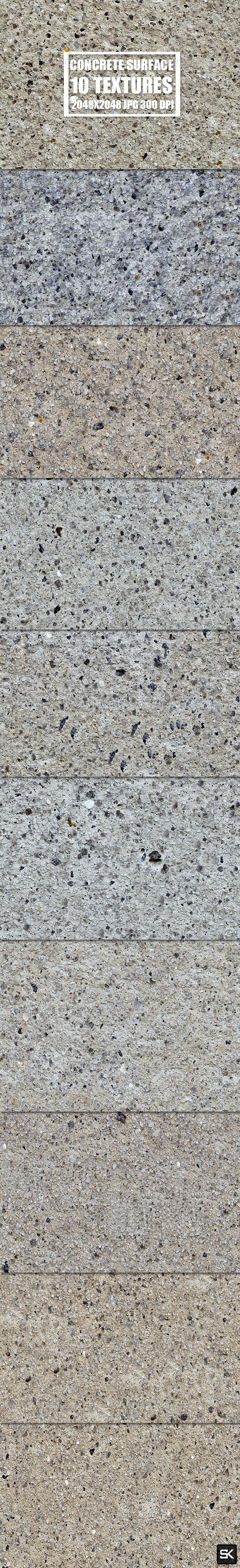 Tileable Concrete Surface - 3DOcean Item for Sale