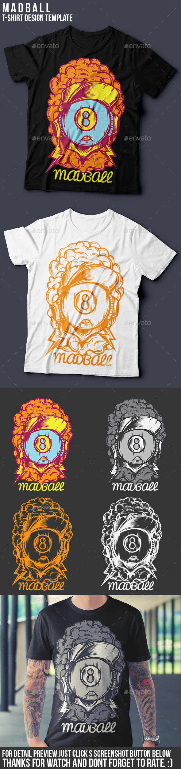 Madball T-Shirt Template - Funny Designs