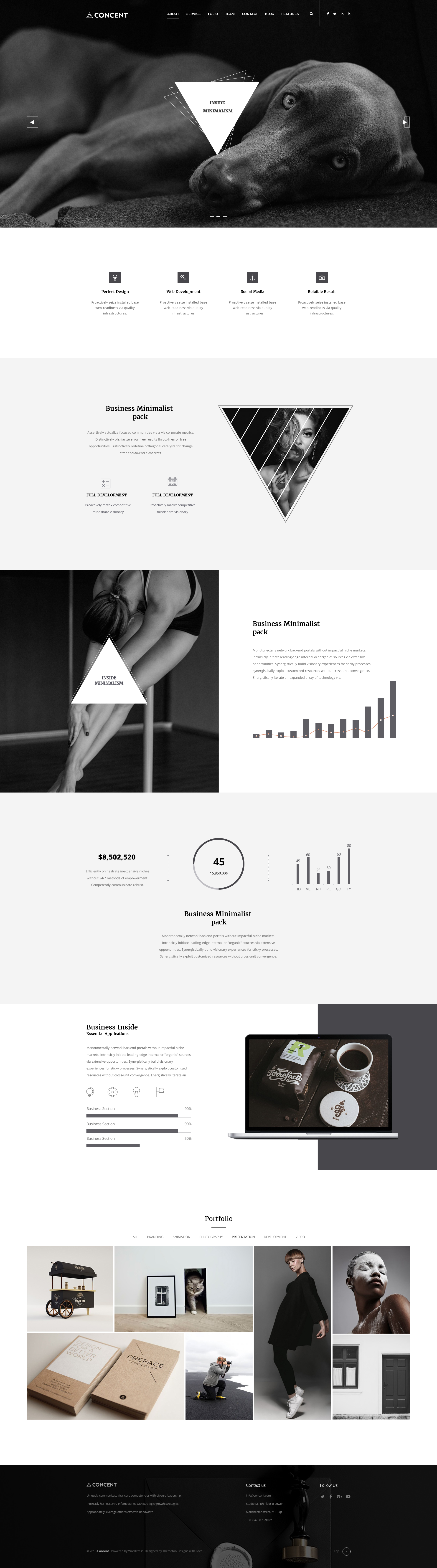 Concent - MultiPurose Business Art Photography PSD Template by themeton