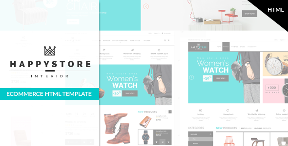 HappyStore - Furniture & Interior Bootstrap Template