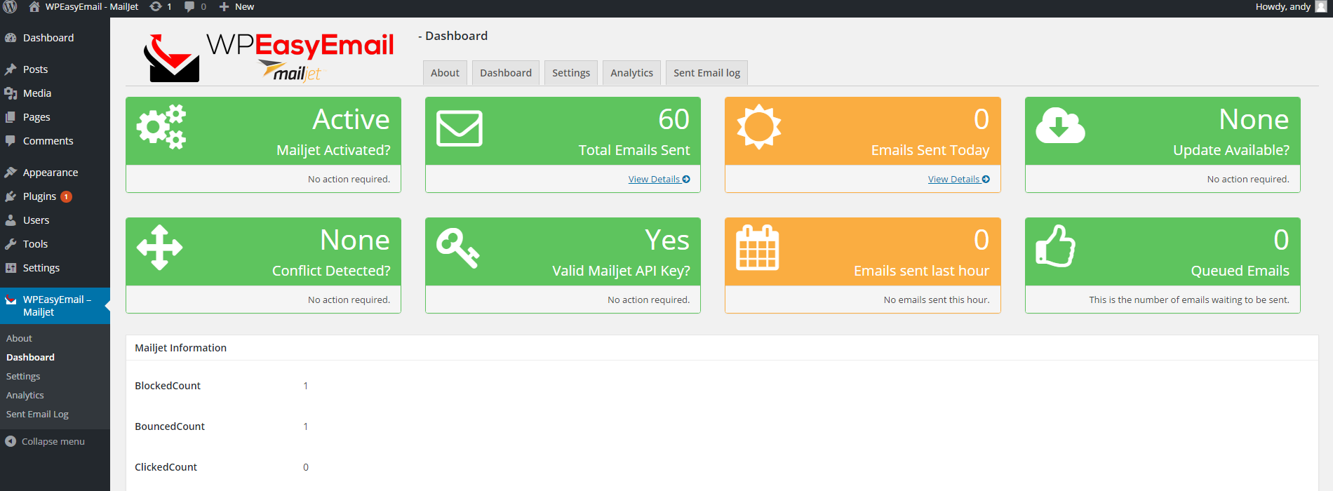WPEasyEmail - Mailjet by CodethenaSoftware | CodeCanyon