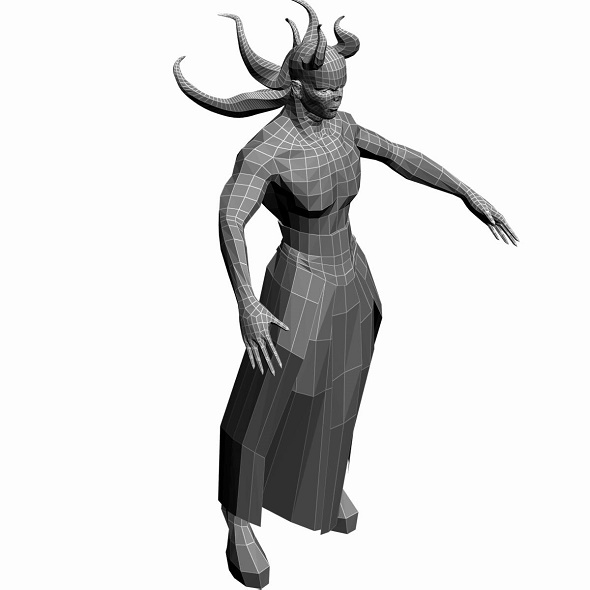 Low Poly Base Mesh Demon  - 3DOcean Item for Sale