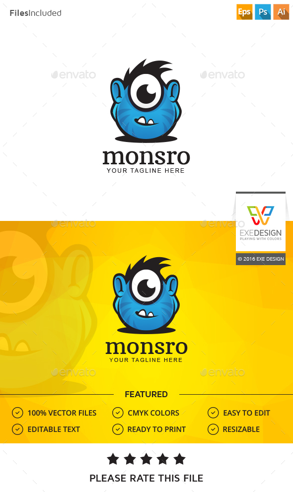 Monster Logo - Animals Logo Templates