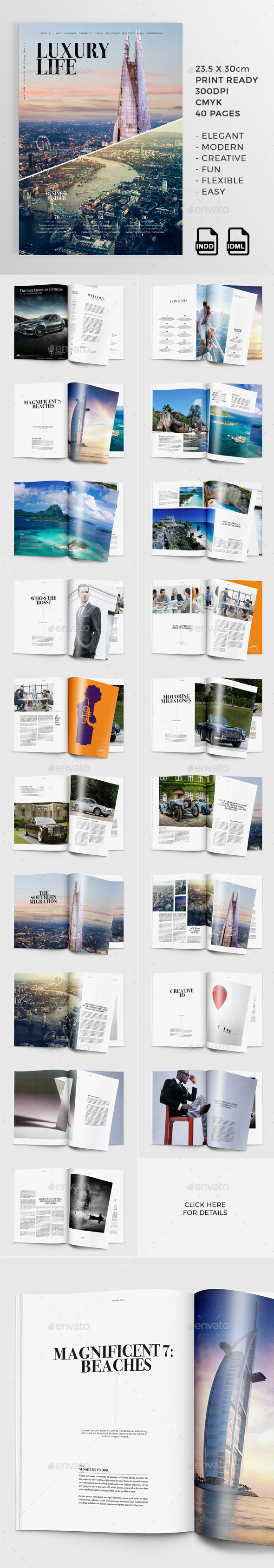 Luxury Life | 40 Pages Magazine - Magazines Print Templates