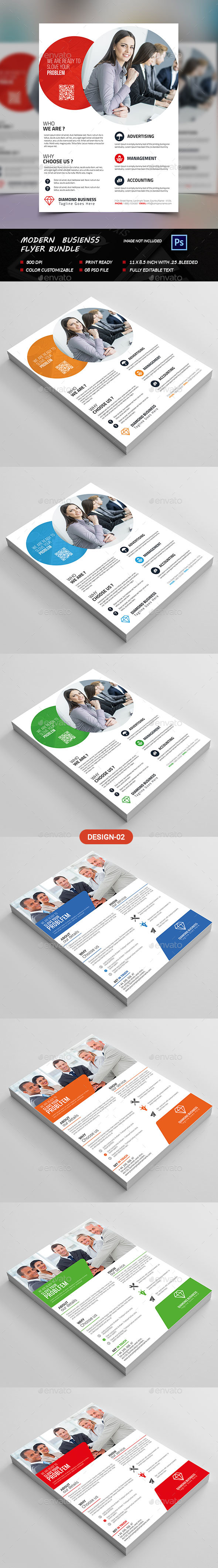 Modern Business Flyer Bundle - Flyers Print Templates