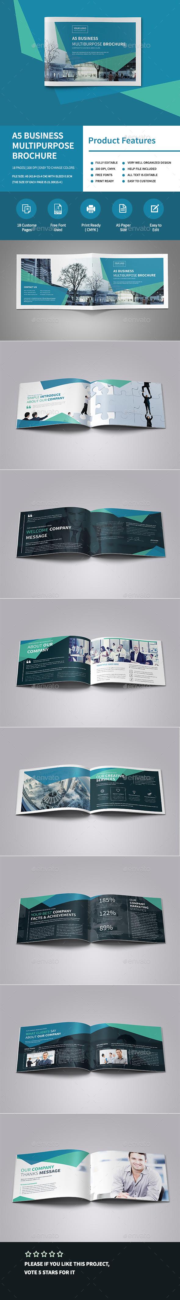A5 Business Multipurpose Brochure - Corporate Brochures