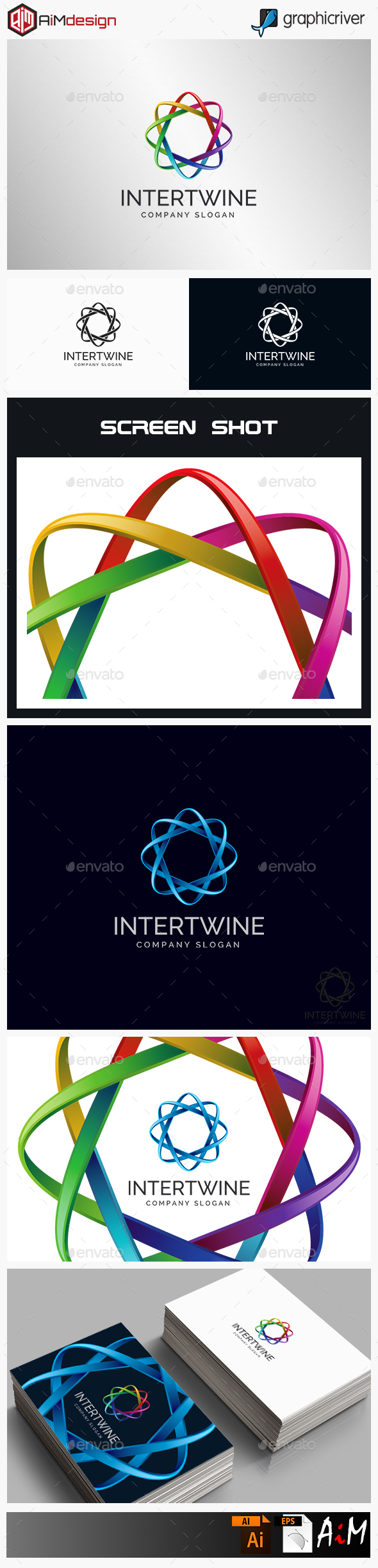 Intertwine - Connection Logo - 3d Abstract