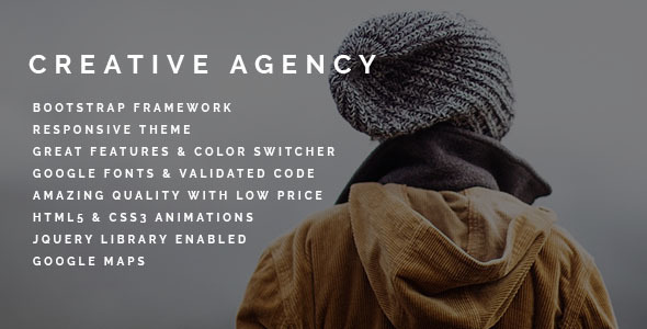 Creative Agency | Responsive HTML Bootstrap Template - Portfolio Creative
