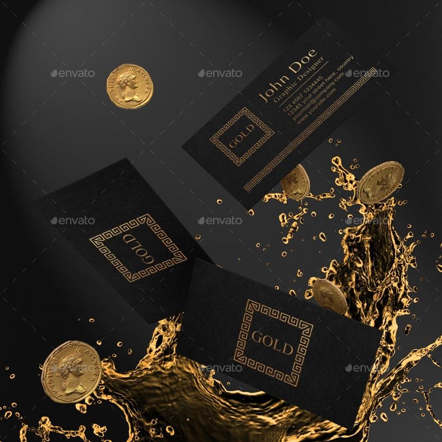 Gold And Black Stationary / Branding Mock
