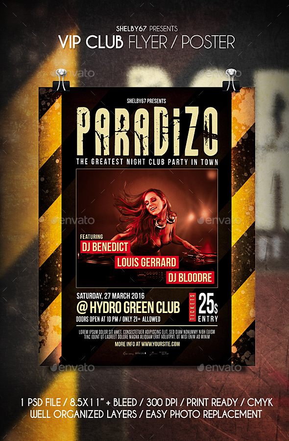 VIP Club Flyer / Poster - Clubs & Parties Events