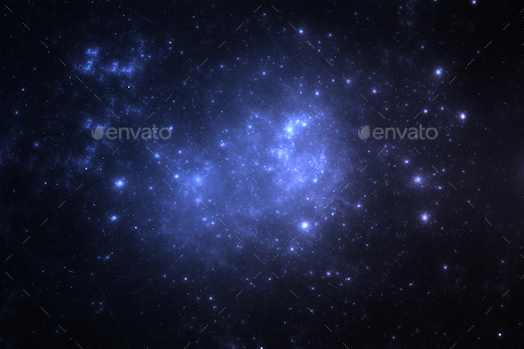 Dark deep space starfield - Abstract Backgrounds