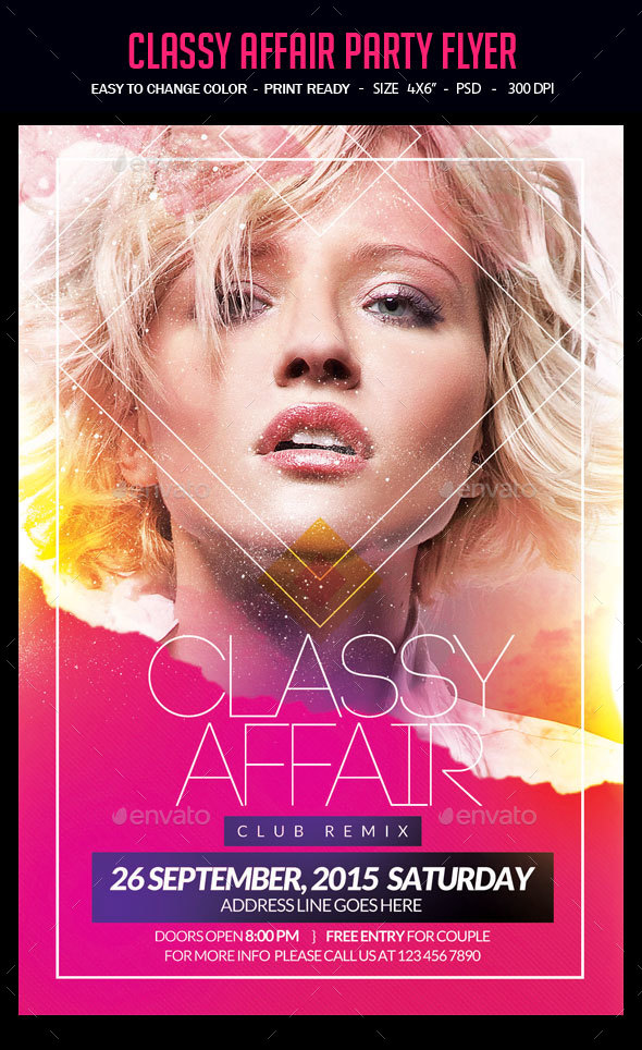 Classy Affair Party Flyer - Clubs & Parties Events