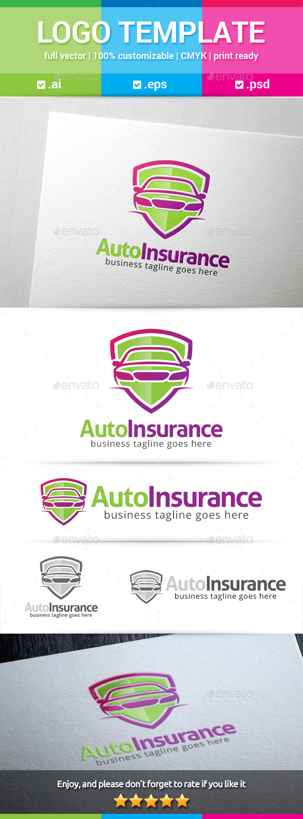 Auto Insurance Logo - Objects Logo Templates