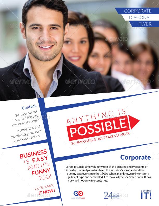 Diagonal Corporate Flyer