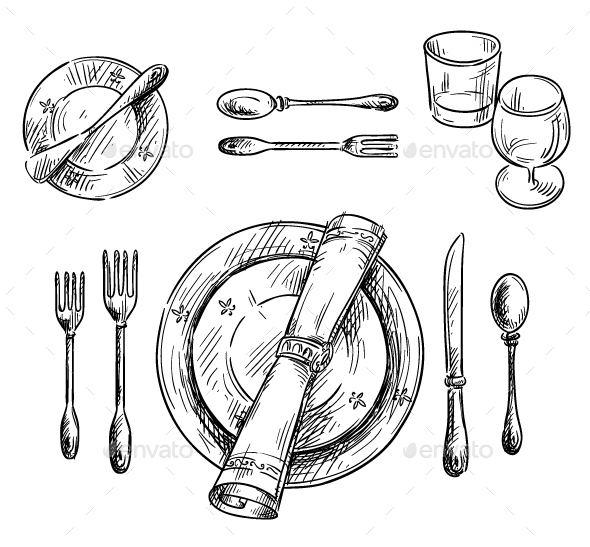 Table Setting - Man-made Objects Objects