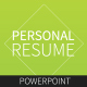 Resume - Creative Powerpoint Template - GraphicRiver Item for Sale