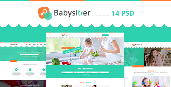 Babysitter – Directory Babysitting PSD Template