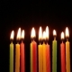 Many Candles Rotating On Black Background - VideoHive Item for Sale