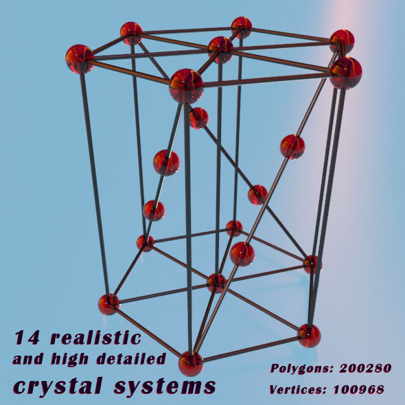Crystal systems - 3DOcean Item for Sale