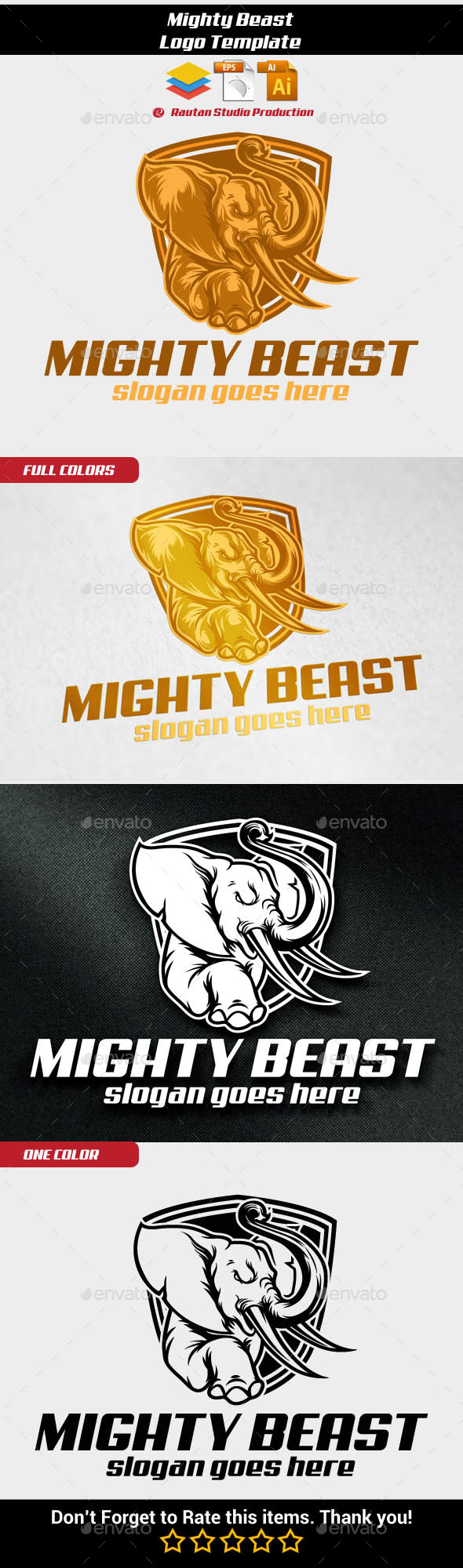 Mighty Beast - Animals Logo Templates