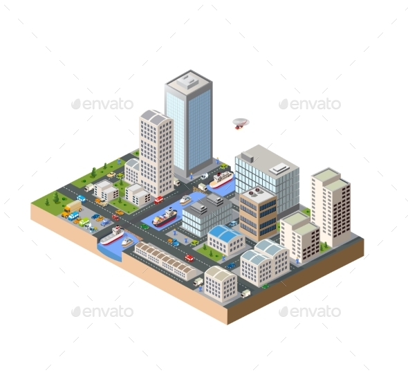 Isometric in a Big City - Buildings Objects