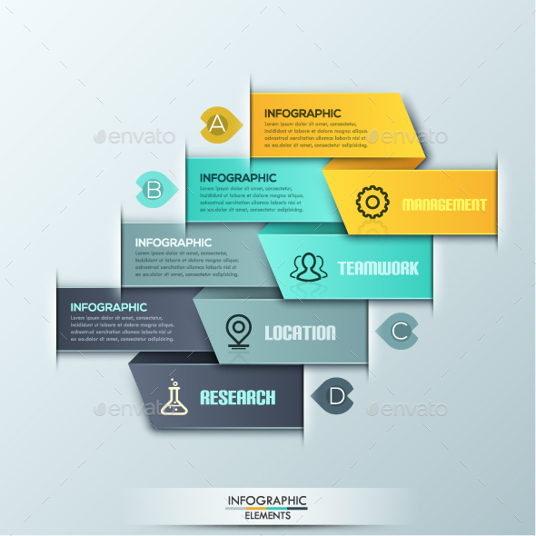 Modern Infographics Ribbon Template - Infographics