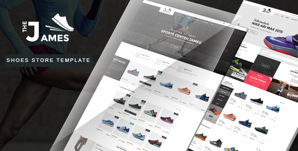 James - Responsive Bootstrap Shoes Store Template - Shopping Retail