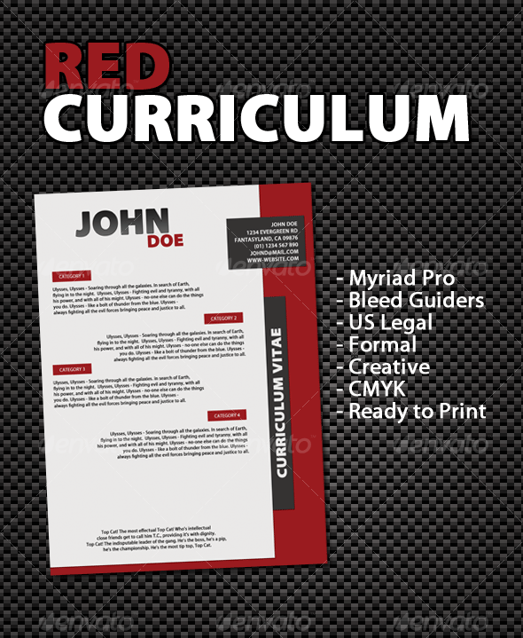 Red Curriculum - Miscellaneous Print Templates
